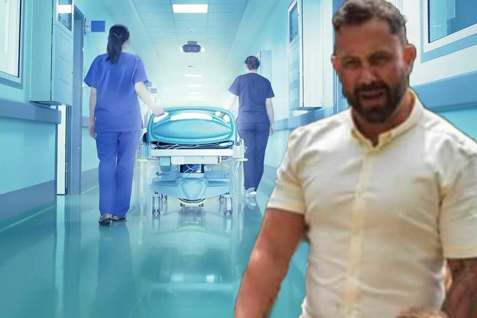 Monatelang wurde David Braham (re.) im Krankenhaus behandelt.
