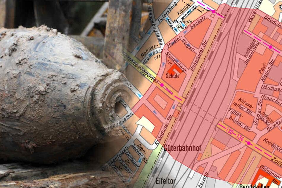 Den Evakuierungsbereich können die Anwohnerinnen und Anwohner der Karte entnehmen. (Symbolbild)