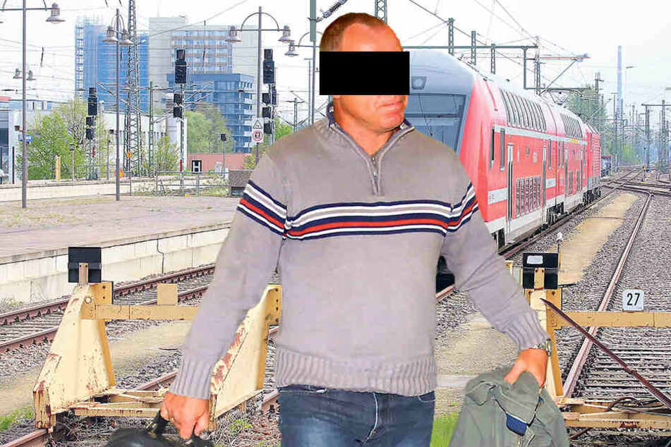 Lok-Führer Falk S. (49) musste  am Mittwoch vorm Amtsrichter erscheinen.