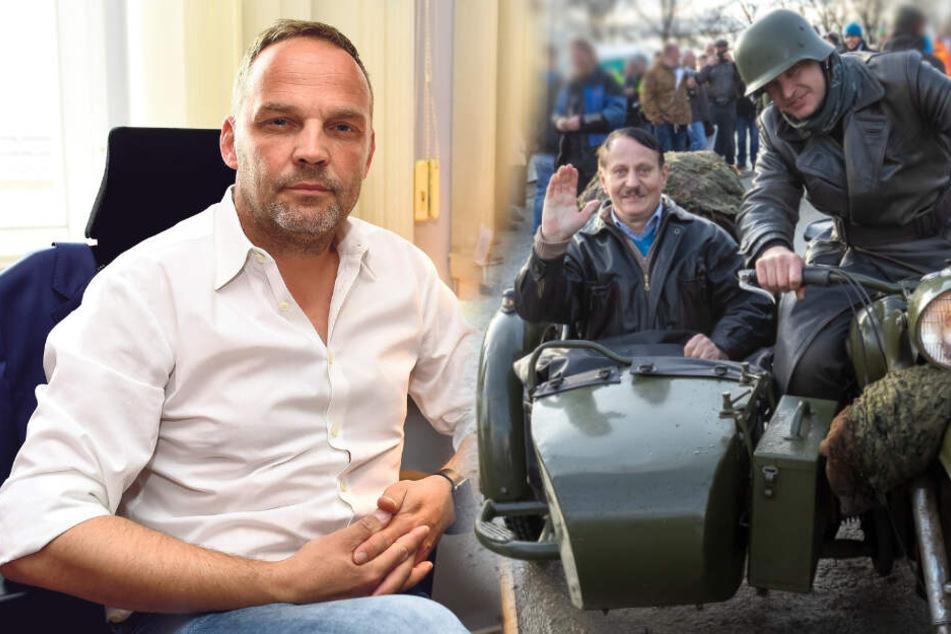 Chemnitz: Hitler-Double erscheint bei Bikertreffen: Nun spricht der Bürgermeister