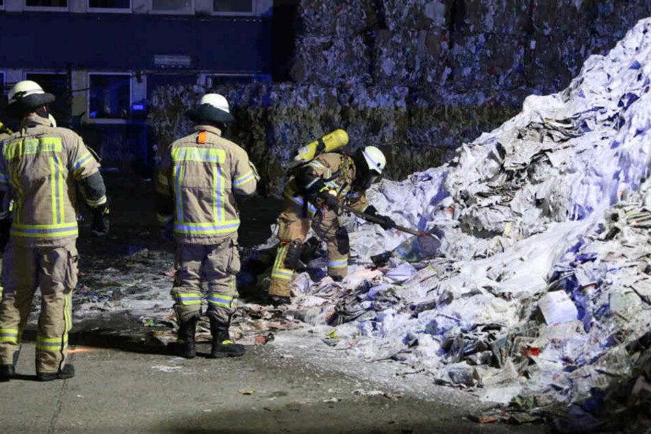 Ein Brandstifter hatte einen großen Haufen Altpapier angezündet.