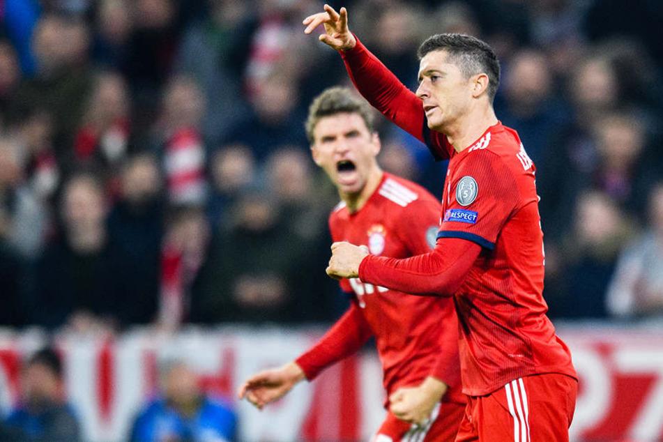 Rufen Bayerns Angreifer Robert Lewandowski (vorne) und Thomas Müller ihr zweifelsohne vorhandenes Können gegen den BVB ab?
