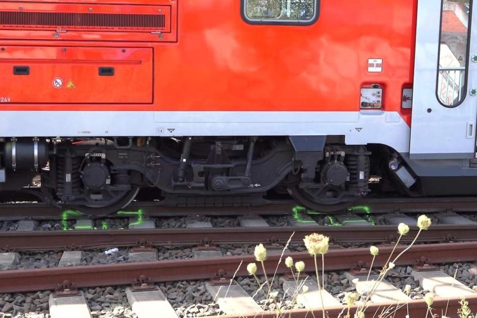Am Montag war im Bahnhof Groß-Rohrheim der Wagon eines Regionalexpresses entgleist.