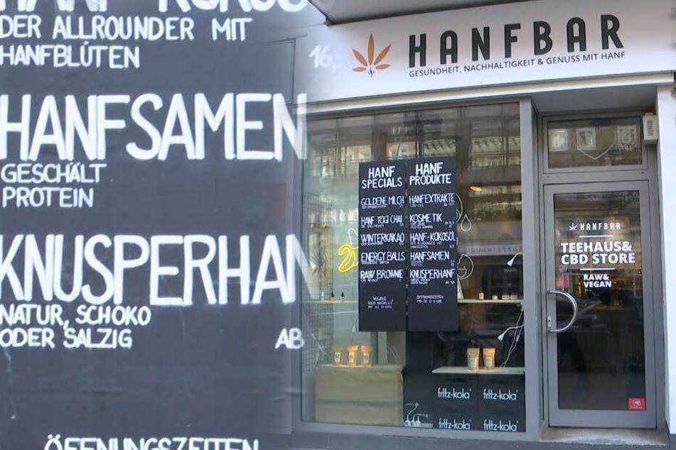"""Die """"Hanfbar"""" in Hamburg-Eppendorf."""