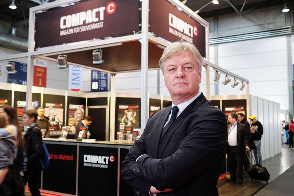 Jürgen Elsässer (61), Chef des COMPACT-Magazins.