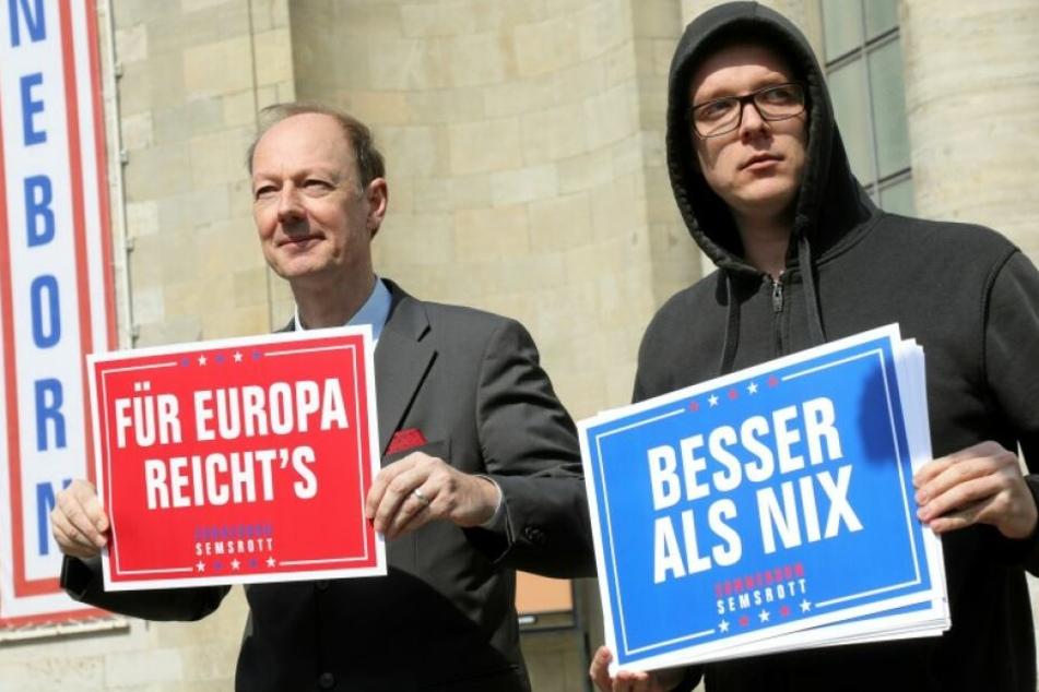 Martin Sonneborn (li) und Nico Semsrott (re).