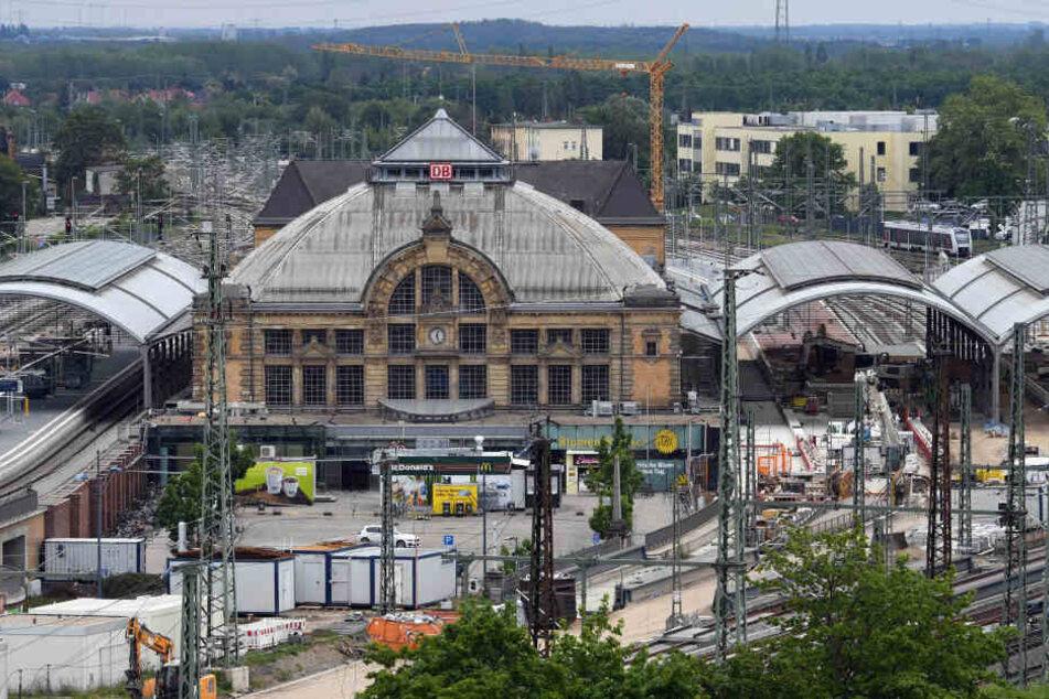 Wieder einmal sind Teile des Hallenser Hauptbahnhofs gesperrt.