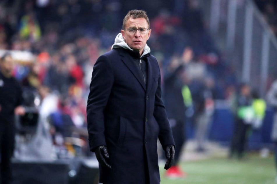 Machtlos beim Ex-Klub: RB Leipzigs Trainer Ralf Rangnick verlor auch das zweite Gruppenspiel in der Europa League gegen Salzburg.