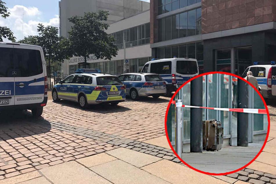 Alarm in der Chemnitzer Innenstadt: Verdächtiges Gepäckstück entdeckt
