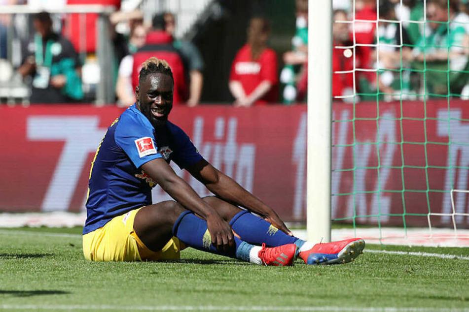 Stürmer Jean-Kévin Augustin blieb in seinen 70 Minuten absolut unauffällig und wird vermutlich das vorerst letzte Mal für RB auf dem Platz gestanden haben.