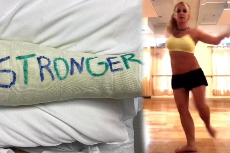 Mit einem lauten Knacken: Britney Spears bricht sich den Fuß!