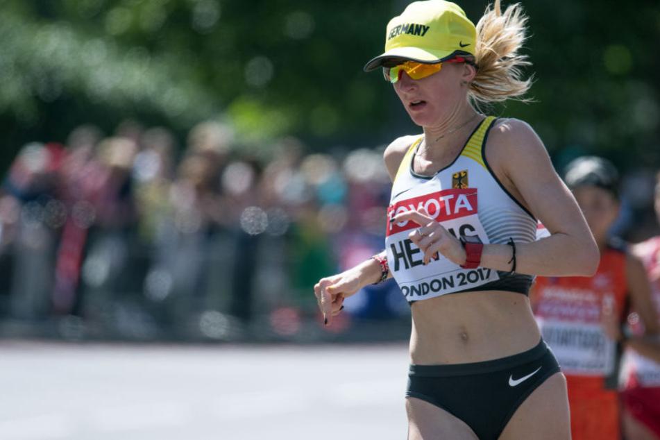 Marathon-Läuferin Katharina Heinig (Archivbild) wird in Frankfurt an den Start gehen.