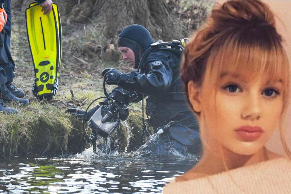 Ein Polizeitaucher kommt aus dem Wasser des Storkower Sees. Am selben Tag wurde die Suche nach Rebecca fortgesetzt.