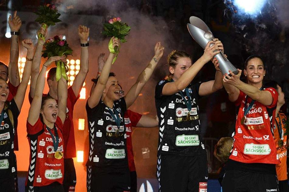 In der vergangenen Saison gewann der DSC das Pokalfinale gegen Stuttgart.
