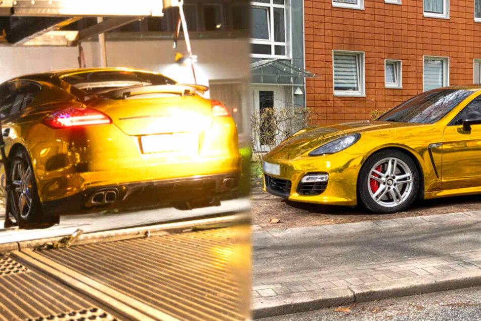Dreister geht's kaum: Protzerei mit Goldfolien-Porsche will kein Ende nehmen