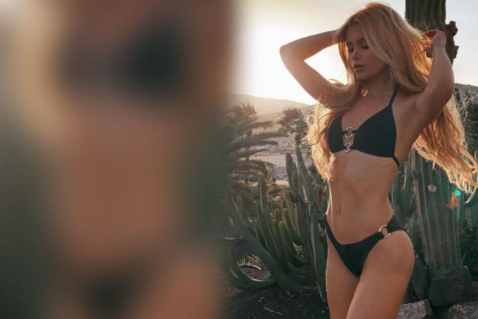 Pamela Reif zeigt sich sexy, doch plötzlich dreht sich alles um ihre Beinhaare