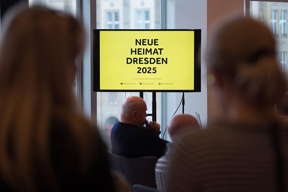 """Das nun vorgestellte Motto """"Neue Heimat Dresden 2025"""" sorgte für reichlich Kopfschütteln."""