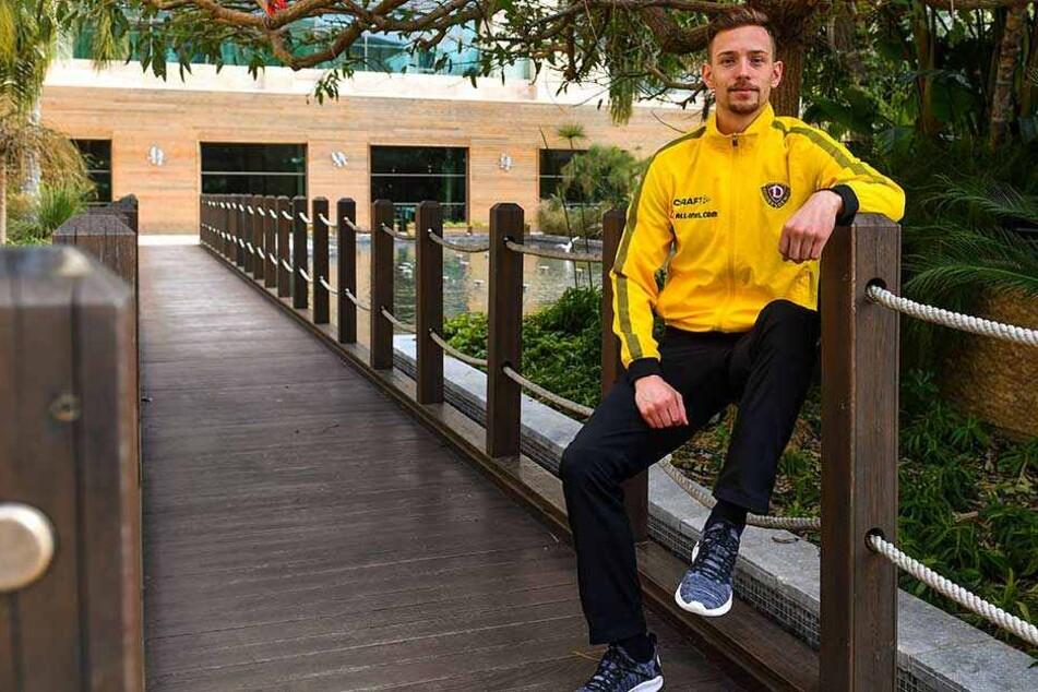 Hängt Jannik Müller etwa schon in den Seilen? Auf keinen Fall! Der 25-Jährige hat bei Dynamo noch viel vor, will Führungsspieler werden.
