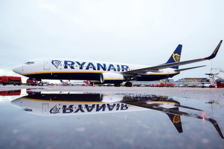 Eine Boeing 737-800 der Fluggesellschaft Ryanair (Symbolbild).
