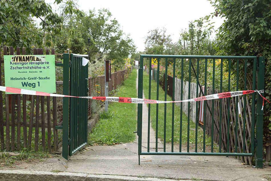 Die Bombe wurde direkt neben einer Kleingartenanlage gefunden.
