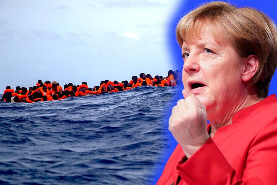 """Für Deutschland versicherte Angela Merkel (63, CDU), """"dass wir bereit sind, unseren Teil zu tragen""""."""