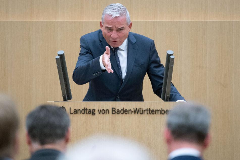 Innenmister Thomas Strobl (CDU) im Landtag von Baden-Württemberg.