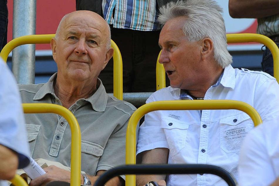 Hansi Kreische (l.) und Reinhard Häfner verfolgten die Dynamo-Spiele oft gemeinsam als Sitznachbarn.