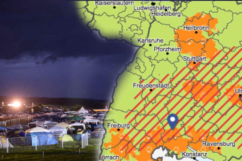 Achtung! Unwetter-Alarm für Southside-Festival
