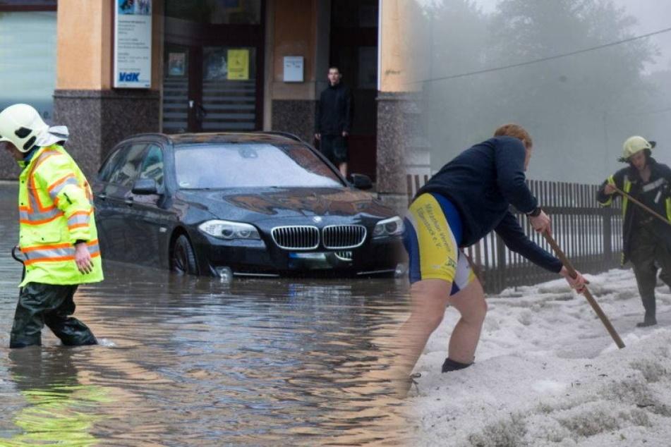 Schwere Unwetter toben über Sachsen
