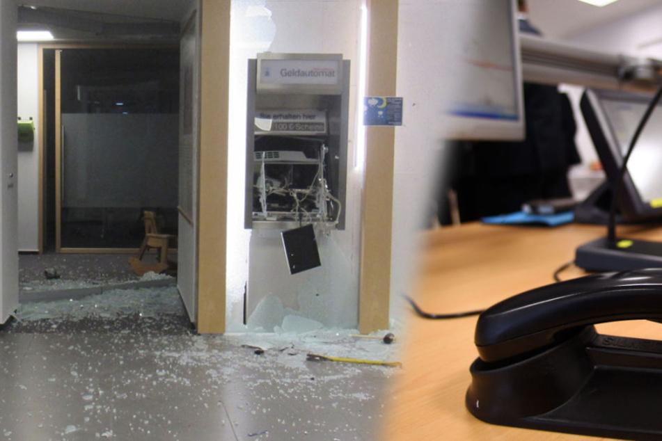 Geldautomat gesprengt: Polizist wird selbst zum Zeugen