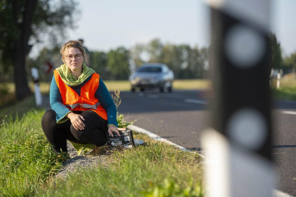 Julia Kieschnick (32) leistete nur wenige Tage nach ihrem Kurs Erste Hilfe bei dem verunfallten Biker.