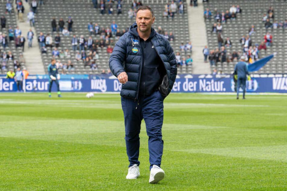 Pal Dardai läuft über den Rasen des Berliner Olympiastadions. Der Ungar wird Hertha BSC in der neuen Spielzeit nicht mehr trainieren.