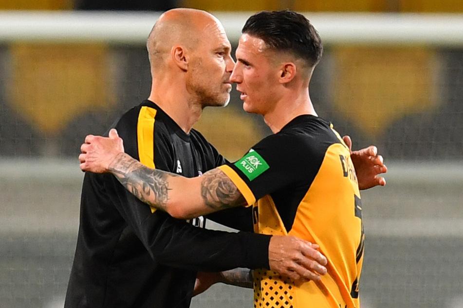 Panagiotis Vlachodimos (r.) bekommt von Trainer Alexander Schmidt (52) das nötige Vertrauen.