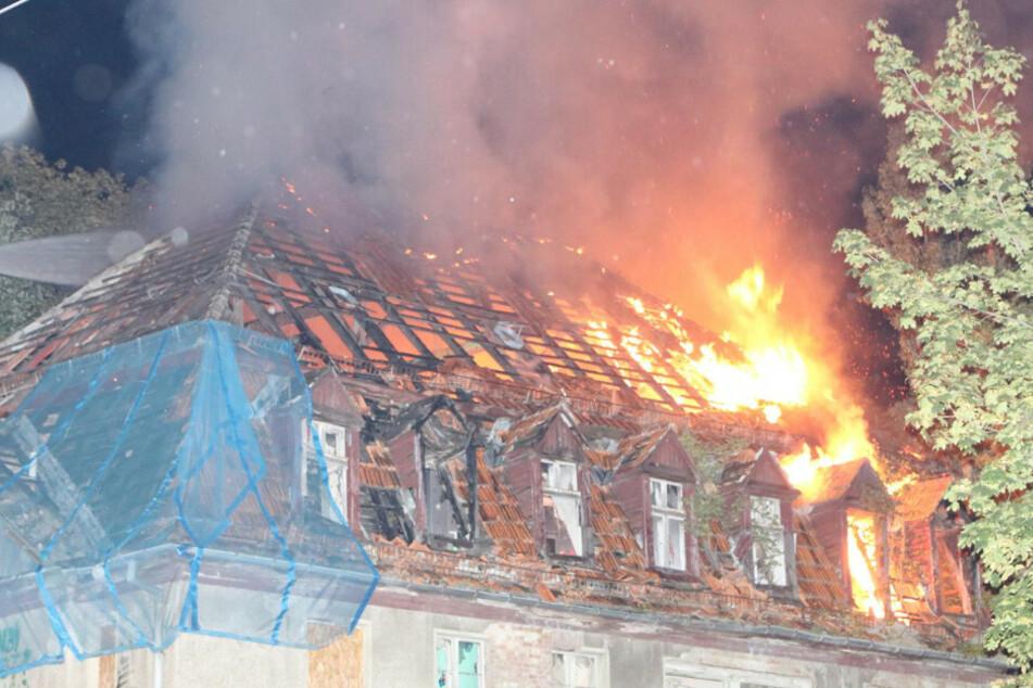 Das leerstehende Gebäude brennt immer wieder.