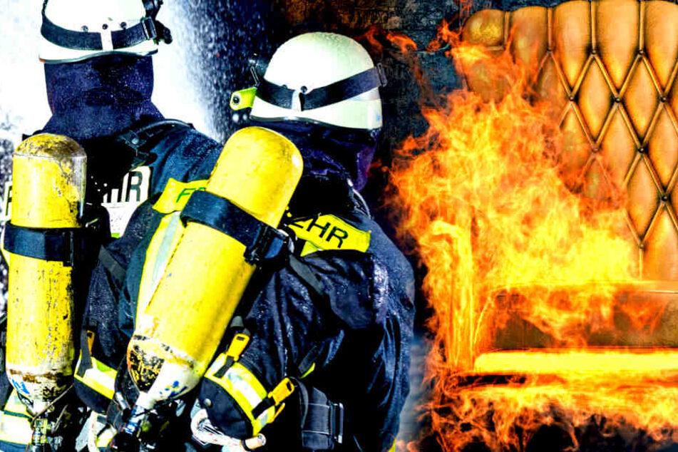 Die Lausitzer Feuerwehr wurde am Montagmorgen zu einem Wohnungsbrand in Cottbus gerufen. Ein Sofa stand in Flammen! (Symbolbild)