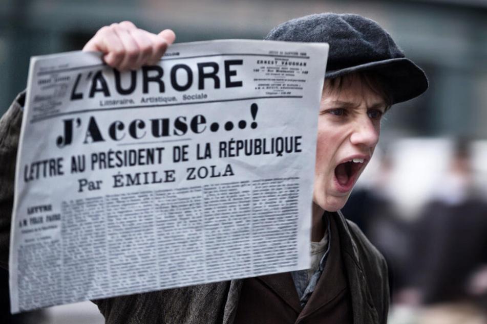 """Der berühmte Schriftsteller Emile Zola sorgte mit seinem legendären Artikel """"J'accuse"""" (""""Ich klage an...!) für Zündstoff und spielte eine entscheidende Rolle in der Dreyfus-Affäre."""