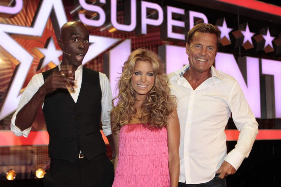 """In der Jury der vergangenen Staffel von """"Das Supertalent"""" waren Bruce Darnell (links), Sylvie Meis und Dieter Bohlen."""