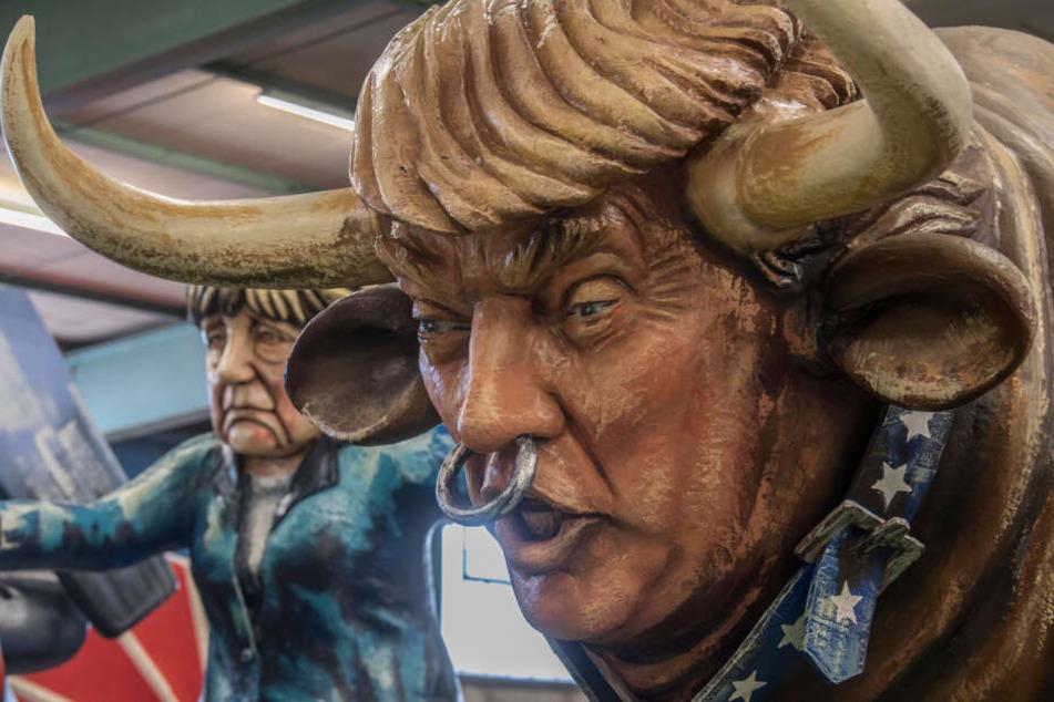 Der Trump-Motivwagen wurde am