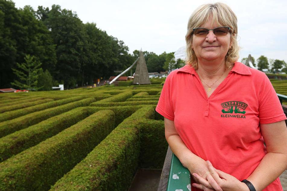Kleinwelkas Irrgarten-Chefin Regina Frenzel (60) sucht nach 25 Jahren einen Nachfolger.