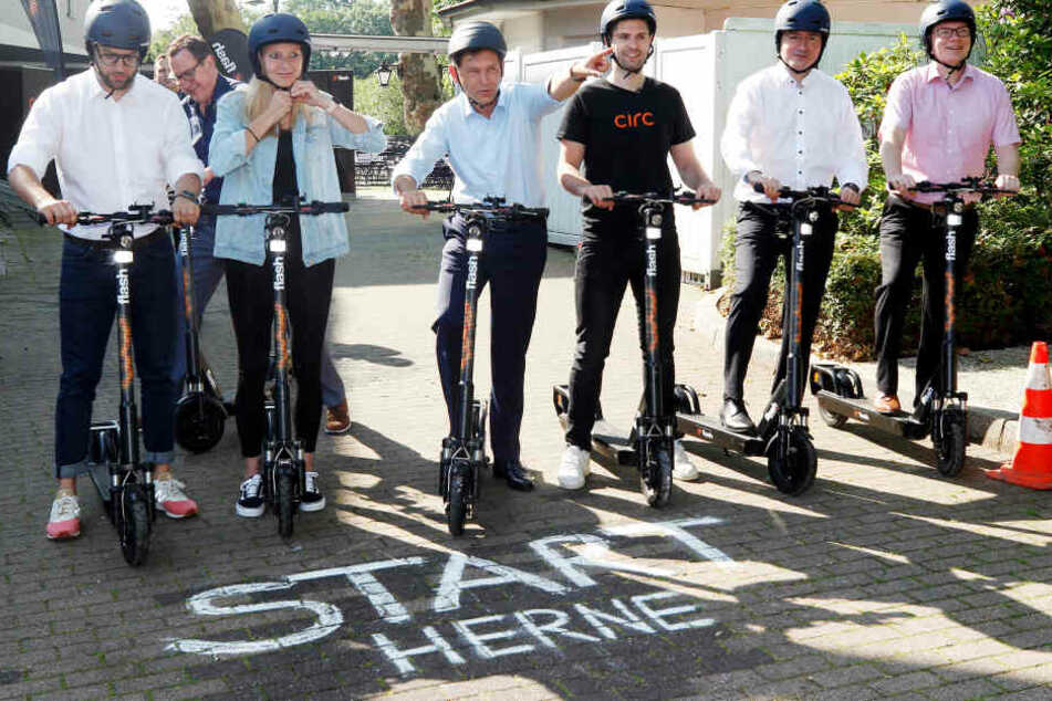 Anfang Juni startete der erste Elektro-Roller-Anbieter in Herne.