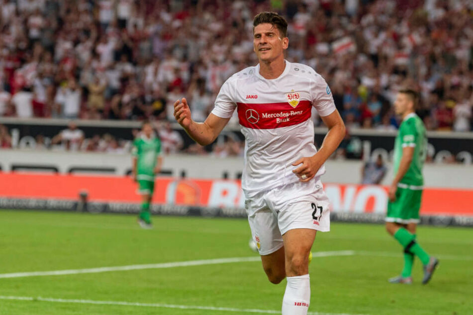 Er traf für die Stuttgarter: Mario Gomez. (Archiv)