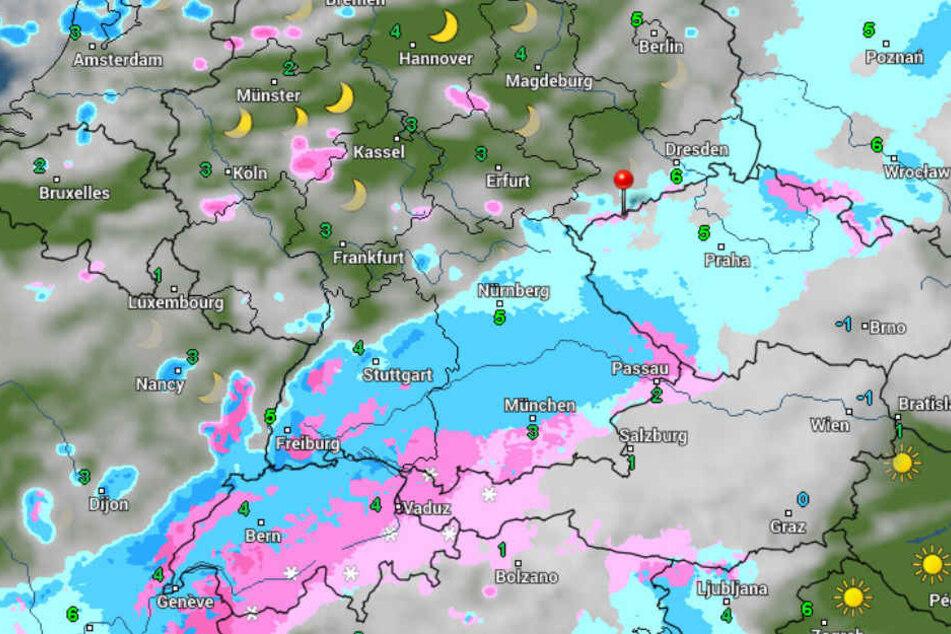 """Ursache für das turbulente Wetter ist Sturmtief """"Walter""""."""