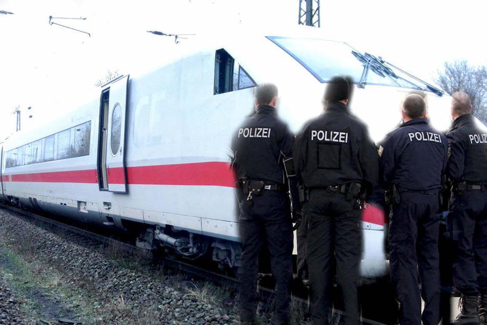 Die Bundespolizei musste gegen fünf Männer vorgehen, die einen Zugreisen nötigten.