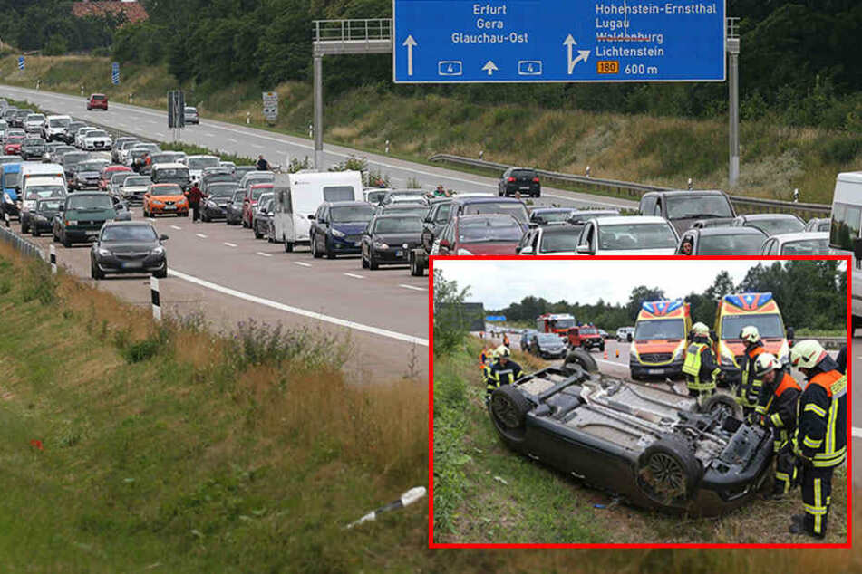 Stau auf A4: Crash mit mehreren Verletzten, darunter Kinder