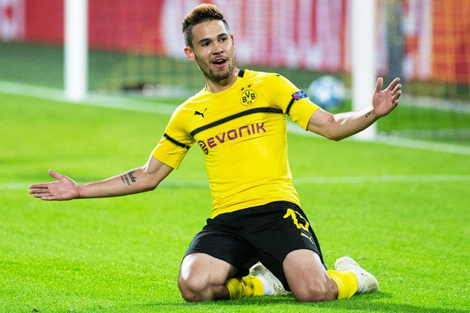 Raphael Guerreiro bestritt für den BVB 82 Pflichtspiele in denen er 15 Mal traf und 16 Tore direkt vorbereitete.