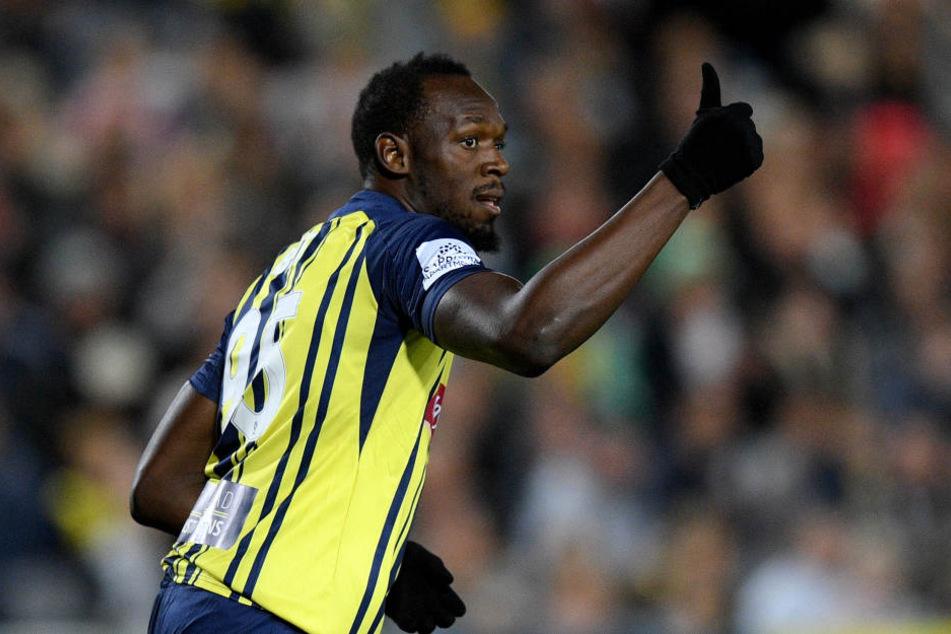 Usain Bolt will unbedingt Fußballprofi werden.