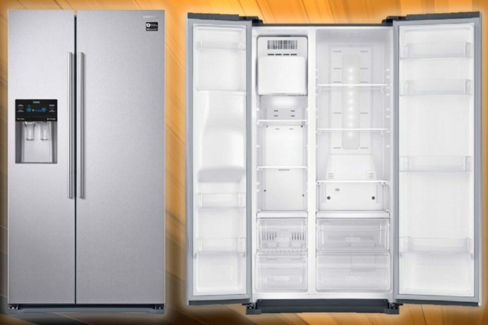 Der integrierten Eis- und Wasserspender sorgt jeder Zeit für Erfrischung.