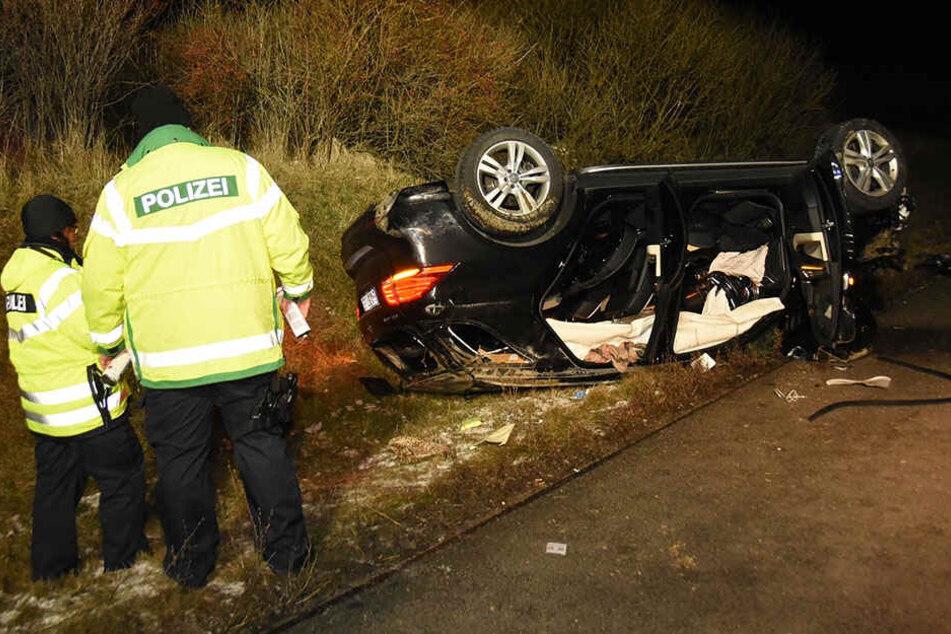 Unfall auf A4 bei Görlitz: Suff-Fahrer hatte Mercedes seiner Eltern geklaut