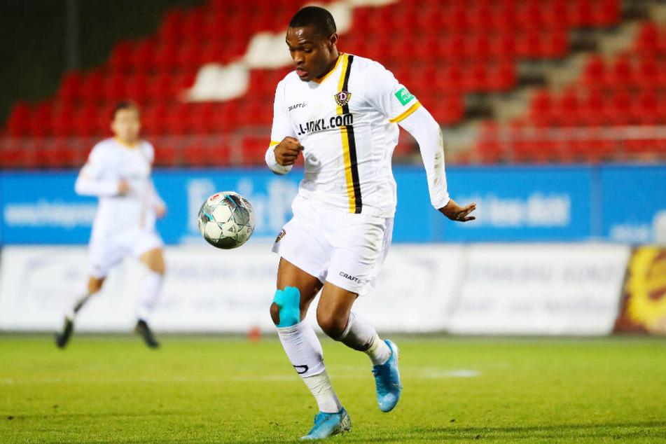 Der Einsatz für Dynamo im Testspiel beim FSV Zwickau bleibt vorläufig der letzte Auftritt von Joy-Lance Mickels im SGD-Dress.