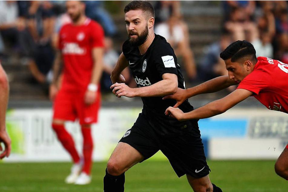 Eintracht Frankfurt lief am Donnerstag beim Offenburger FC auf.